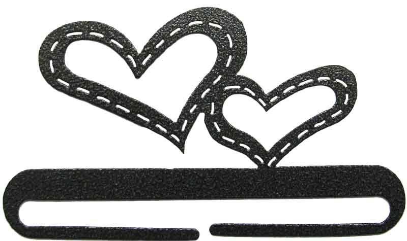 6 inch Stitched hearts split bottom