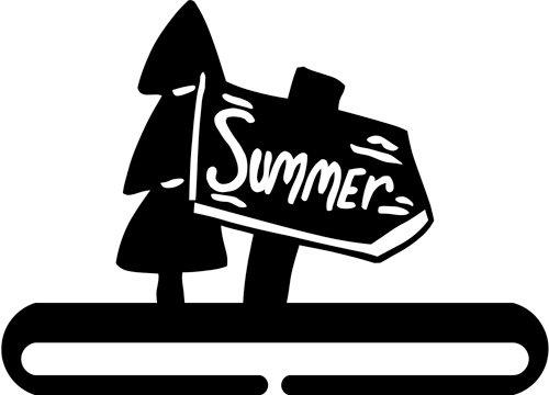 6 inch Summer Sign split bottom