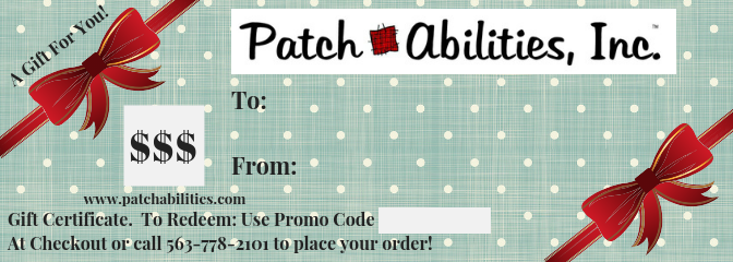 $40 Patch Abilities Gift Certificate