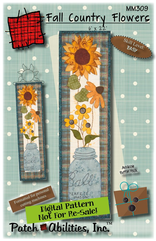 MM309 Fall Country Flowers - DIGITAL DOWNLOAD PATTERN