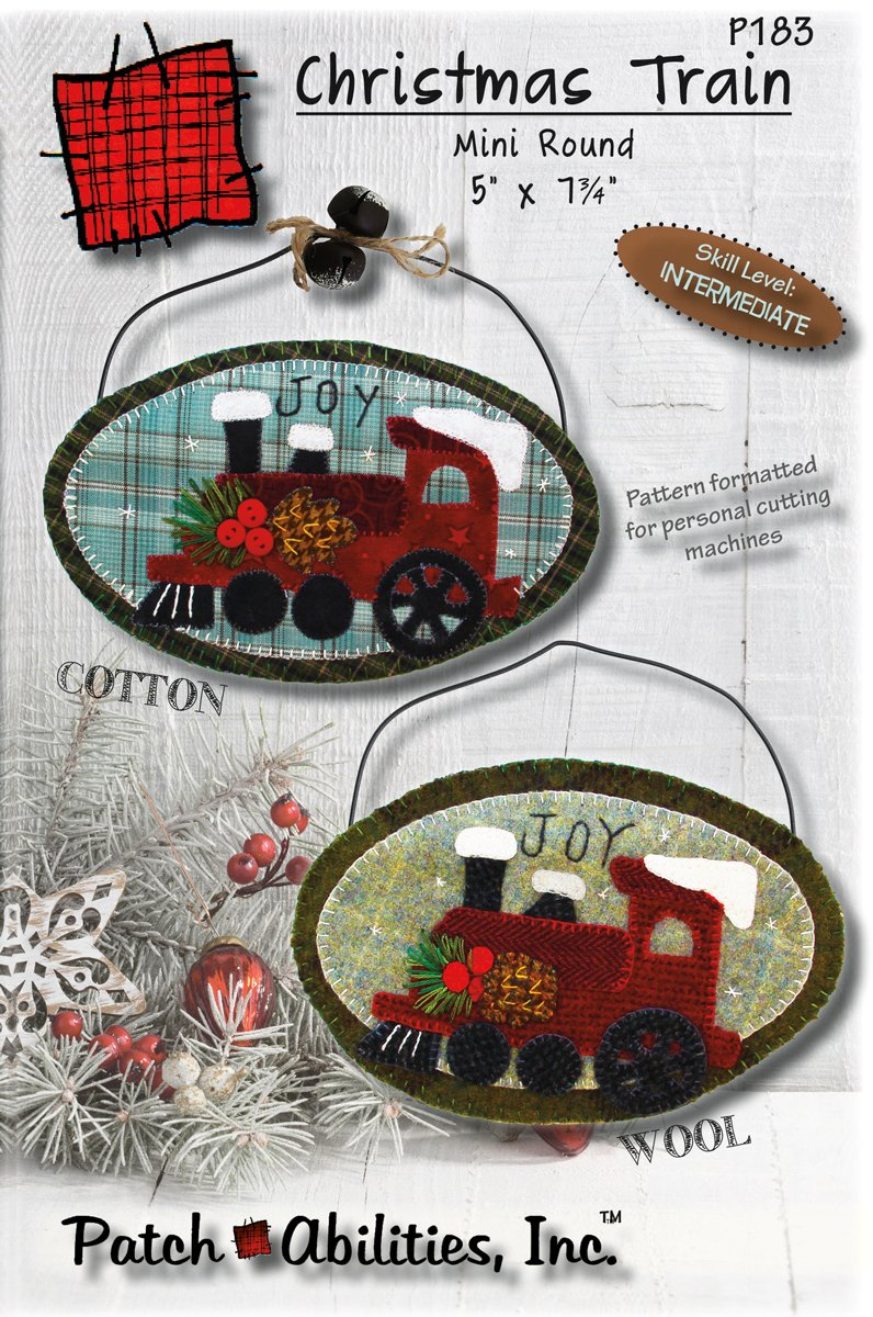 P183 Christmas Train mini round oval