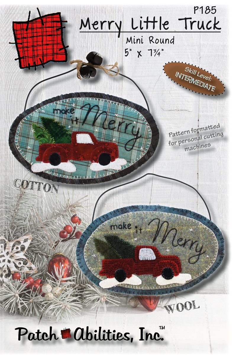 P185 Merry Little Truck mini round oval