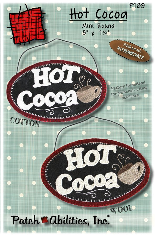 P189 Hot Cocoa Mini Round Pattern
