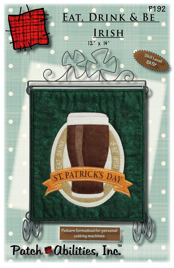 P192 Eat, Drink & Be Irish pattern