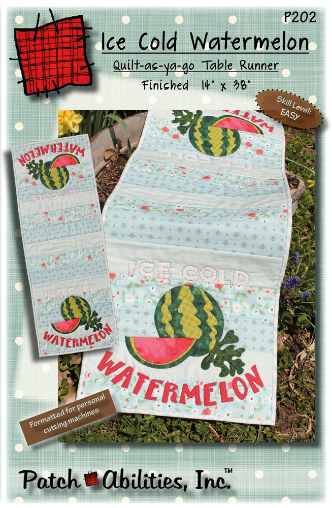 P202 Ice Cold Watermelon table runner pattern
