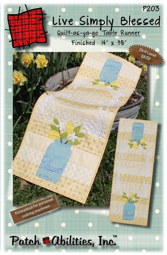 P203 Live Simply Blessed table runner pattern