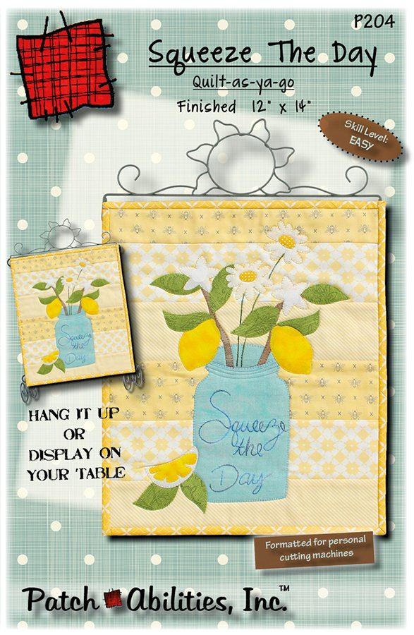 P204 Squeeze The Day lemons wall hanging pattern