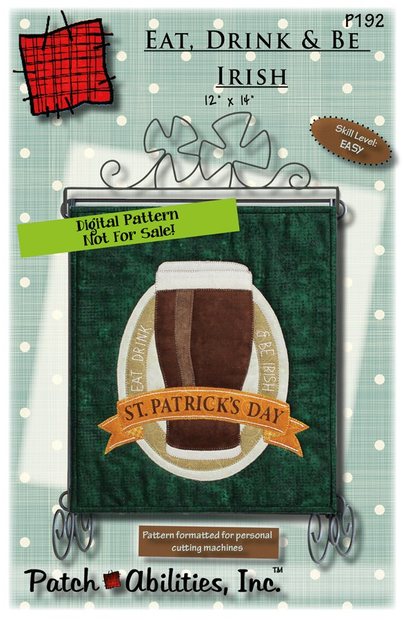 P192 Eat, Drink & Be Irish - DIGITAL DOWNLOAD PATTERN