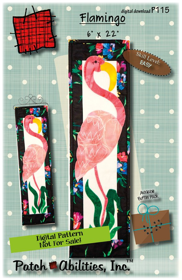 P115 Flamingo - DIGITAL DOWNLOAD PATTERN