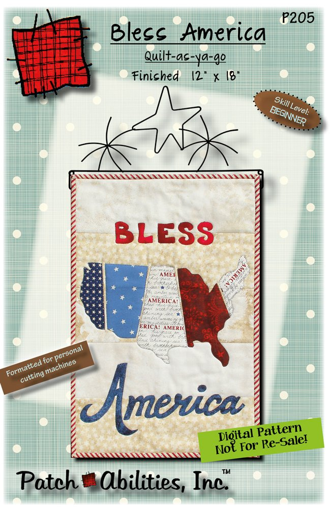 P205 Bless America - DIGITAL DOWNLOAD PATTERN