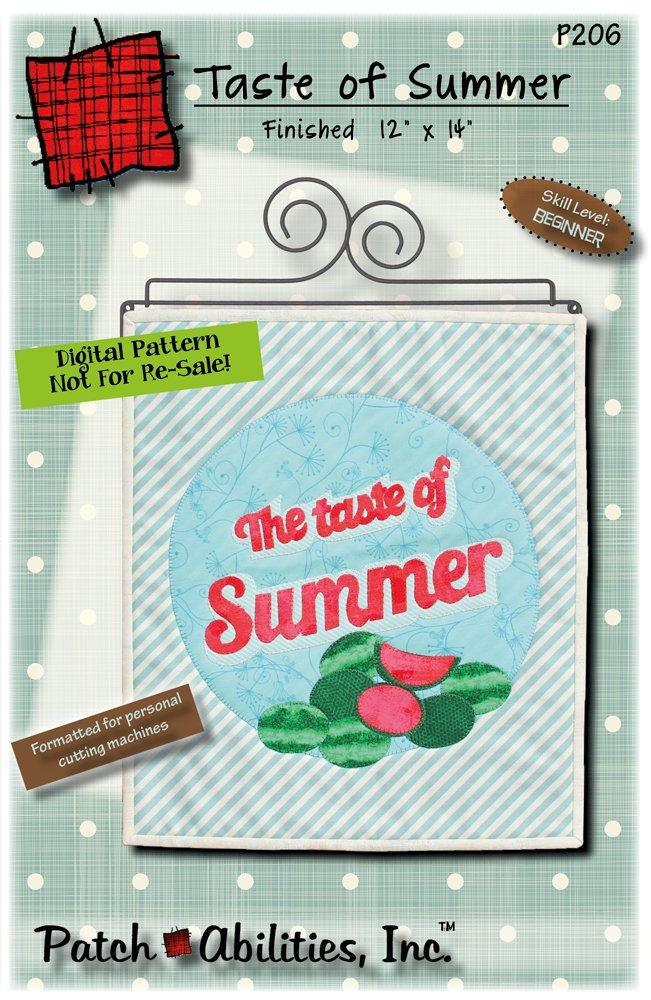 P206 Taste of Summer Watermelon Wall Hanging - DIGITAL DOWNLOAD PATTERN