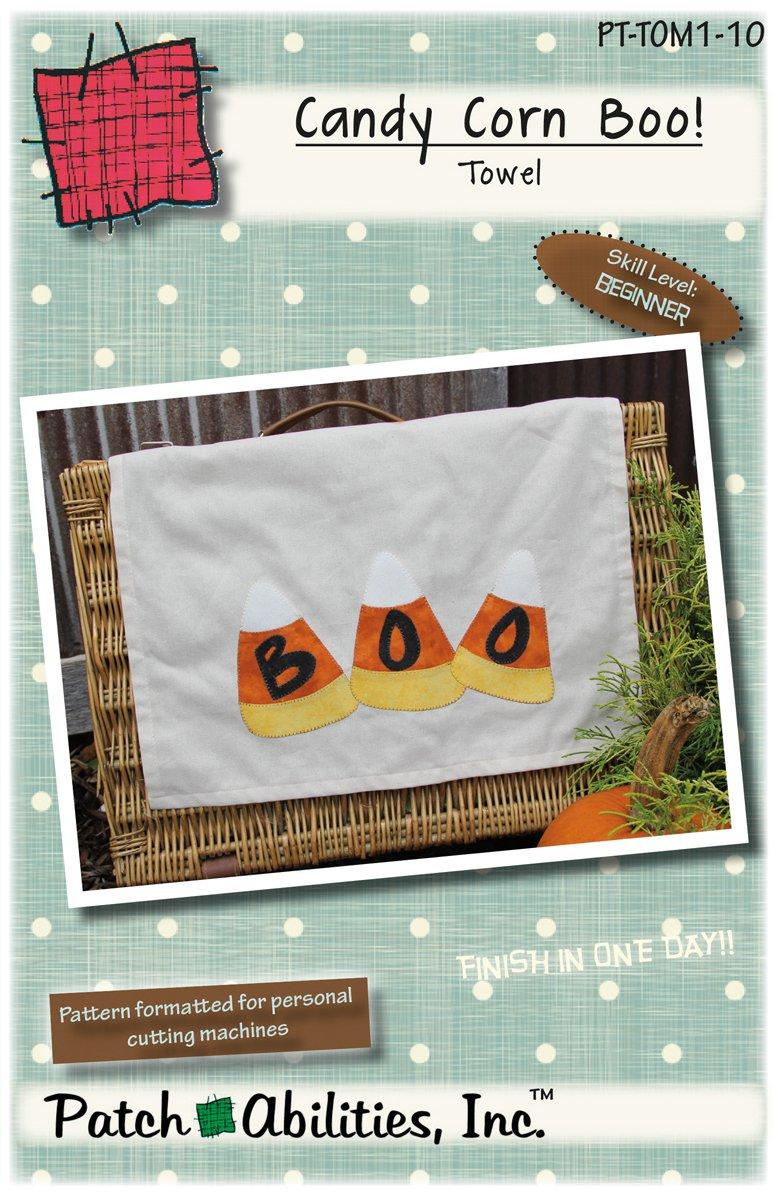 PT-TOM1-10 Candy Corn Boo Towel