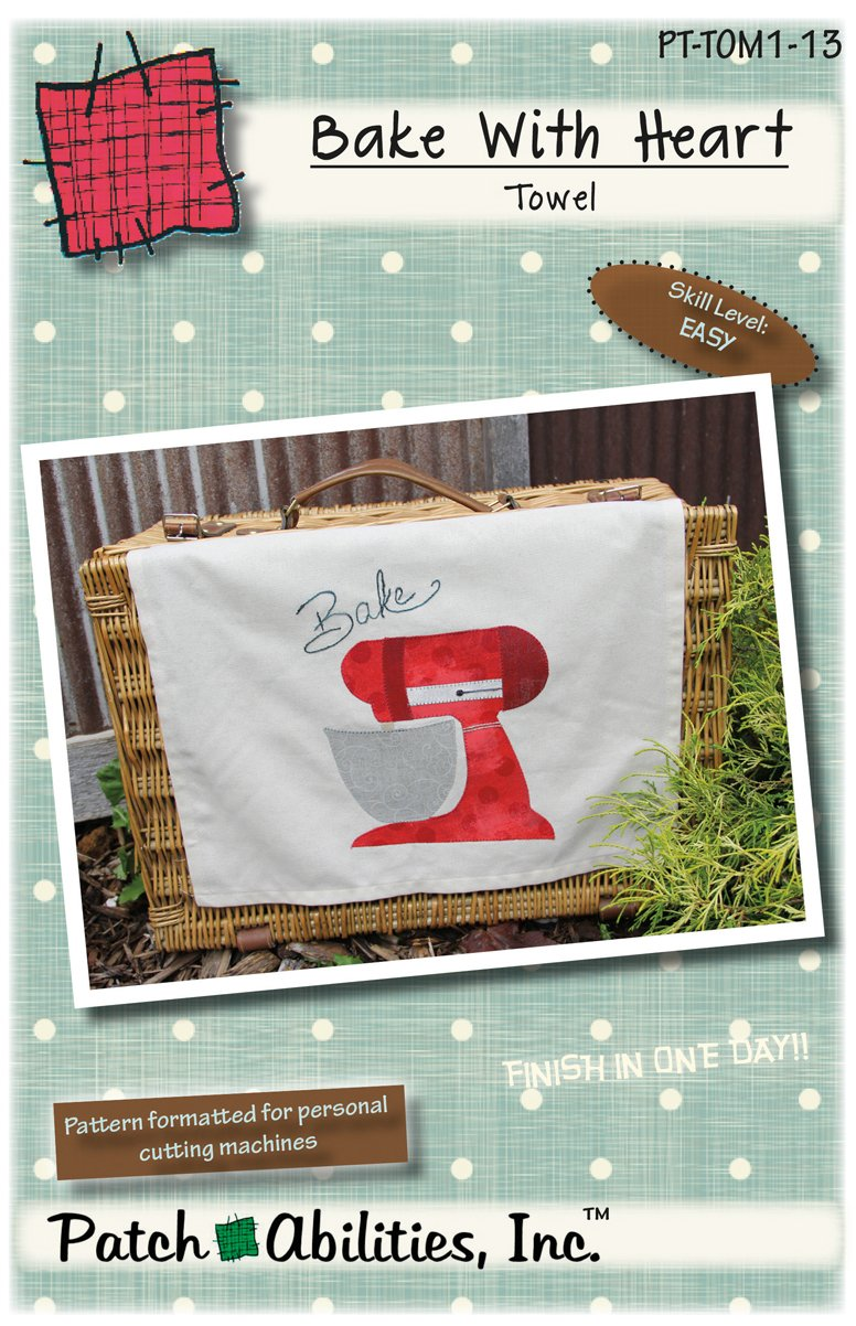 PT-TOM1-13 Bake With Heart Towel