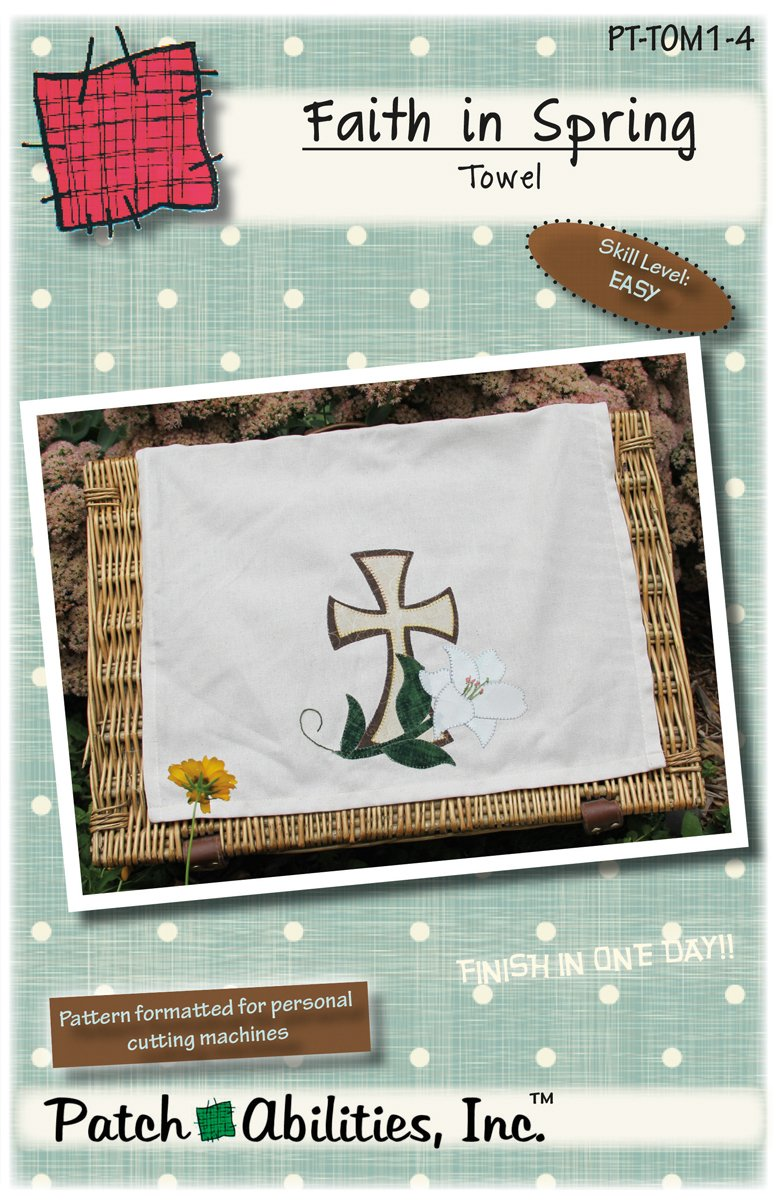 PT-TOM1-4 Faith in Spring Towel
