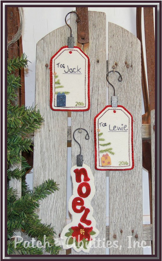 Gift Tags & Noel Wool Ornaments with wool kit