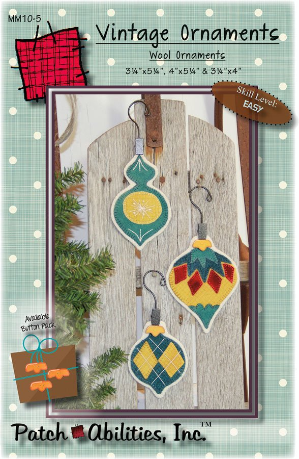 MM10-5 Vintage Ornaments wool ornaments