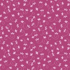 Flamingo Fantastico LEAF SCROLL DARK PINK