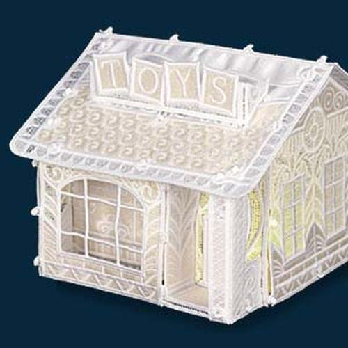 OESD Christmas Village TOY STORE - FREE STANDING LACE