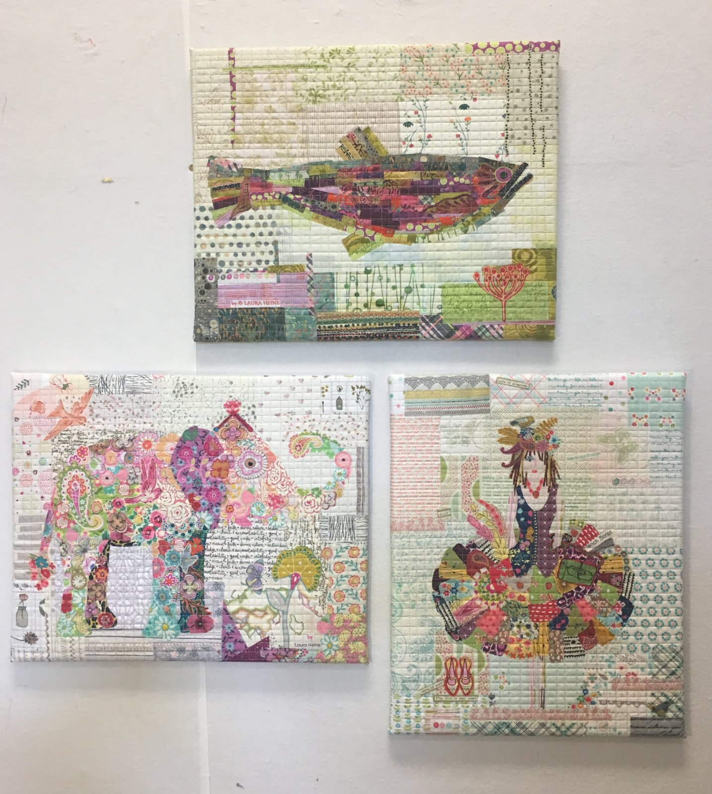 Teeny Tiny Collage Patterns by Laura Heine of Fiberwerks