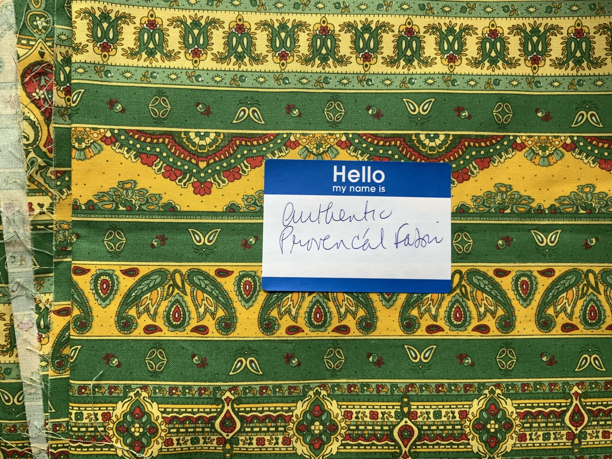 Authentic Proven?al Fabric - direct from South of France!