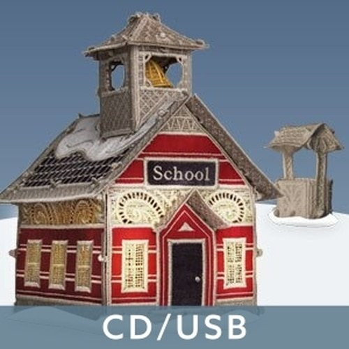 OESD Christmas Village SCHOOLHOUSE WITH WELL FSL