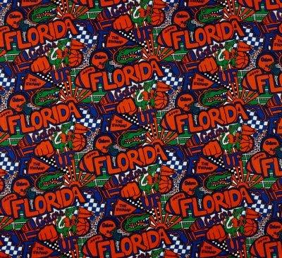 Sykel Enterprise NCAA Florida Pop Art Cotton Fabric