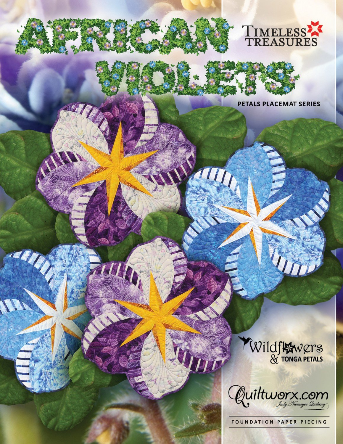 Quiltworx African Violets Placemats