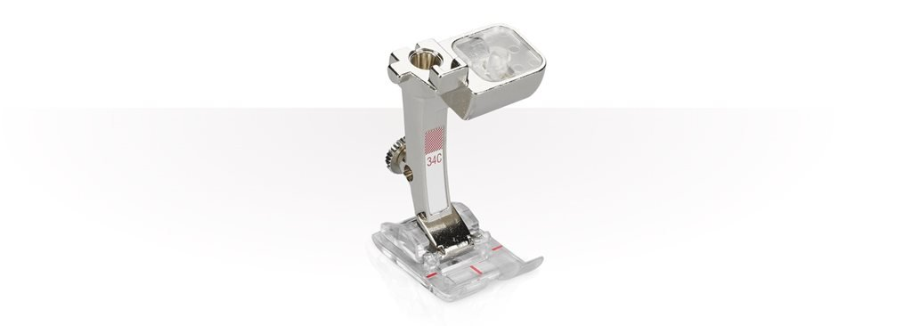 Bernina #34D Reverse-pattern foot with clear sole