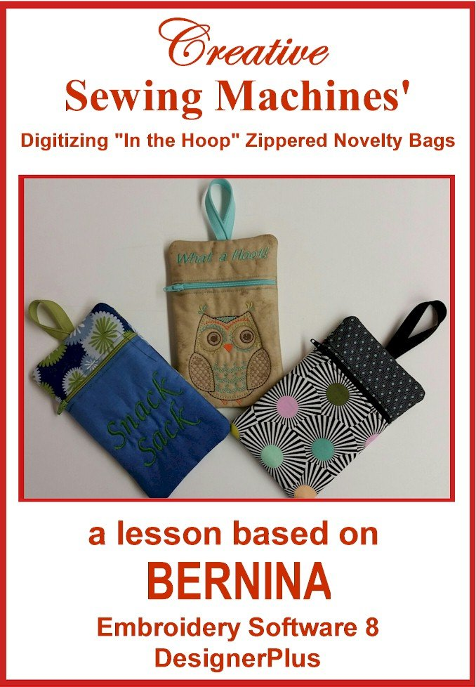 V8 Zippered Novelty Bag In the Hoop