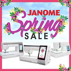 Janome Spring Savings Event