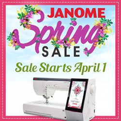 Big Savings on Janome
