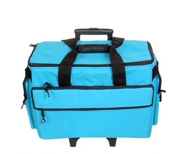 19 Wheeled Sewing Machine Carrier, TB19 - Aqua