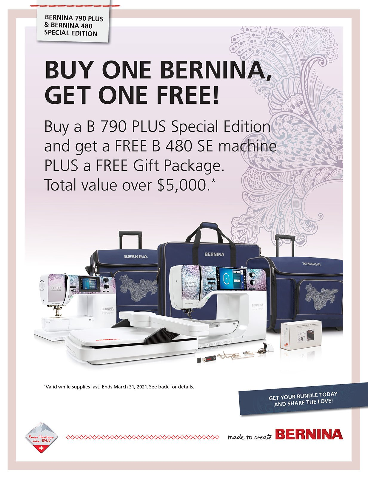 Bernina - Buy One Get One Free!