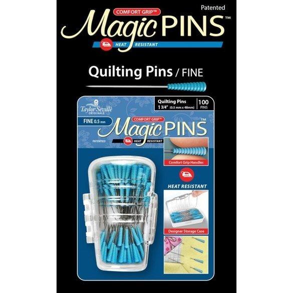 Comfort Grip Magic Pins - 100pk - Fine Tip Quilting Pins