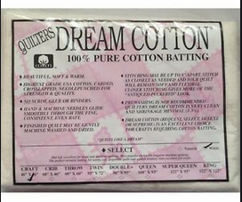 Dream Cotton Batting Select Craft - White (46 x 36)