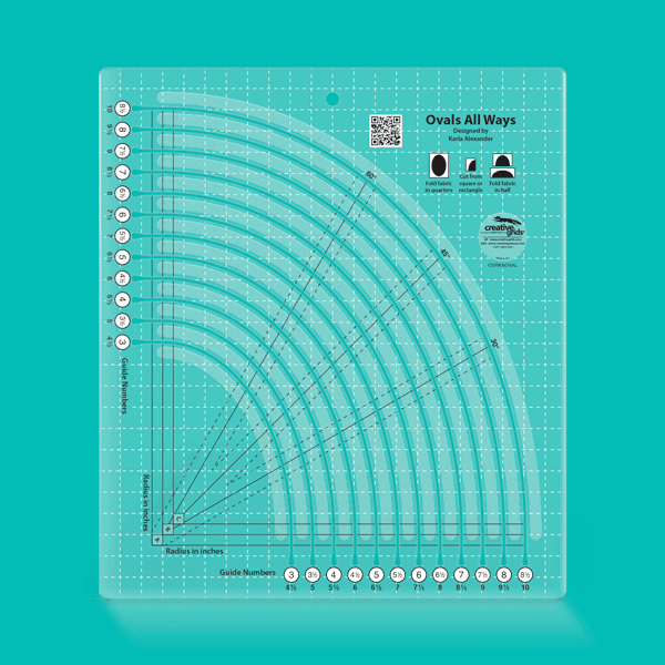 Creative Grids Ovals All Ways Quilt Ruler
