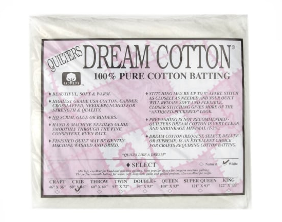 Dream Cotton Batting Select Crib - White (46 x 60)