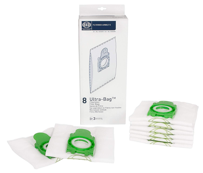Sebo 8 Pack Filterbox E Series Bags