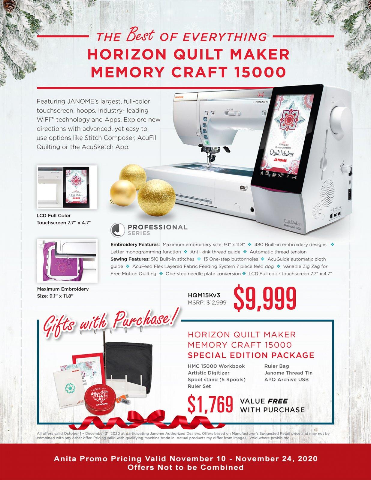 Janome Memory Craft 15000