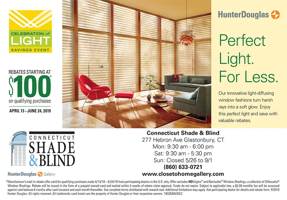 Hunter Douglas Rebates Starting at $100