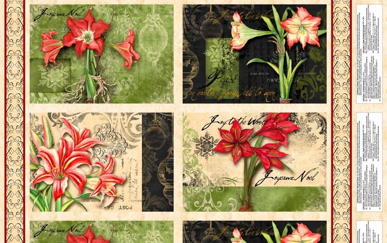 Christmas in Bloom Placemats by Nancy Mink (O)