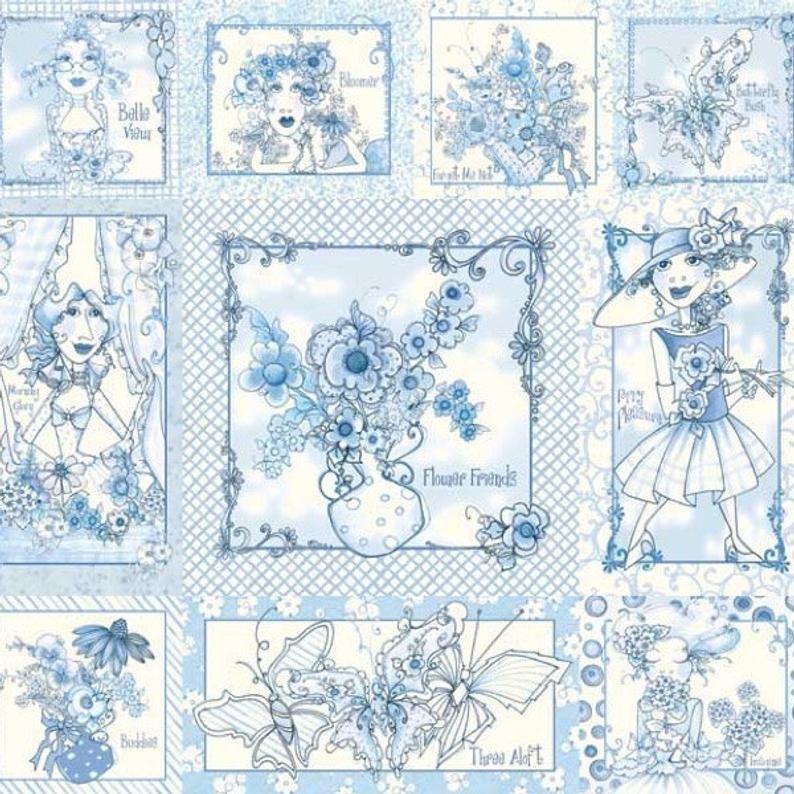 Flora Bleu by Loralie Harris (O)