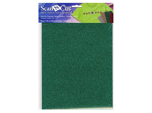 Iron-On Transfer Glitter Sheets (Holiday Colors)