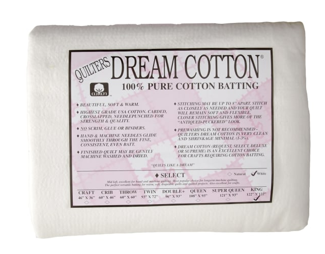 Dream Cotton Batting Select King - White (122 x 120)