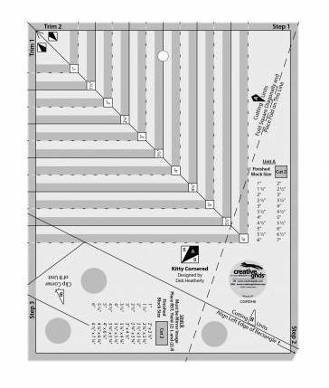 Creative Grids Kitty Cornered Ruler
