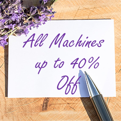 All Machines up to 40% Off