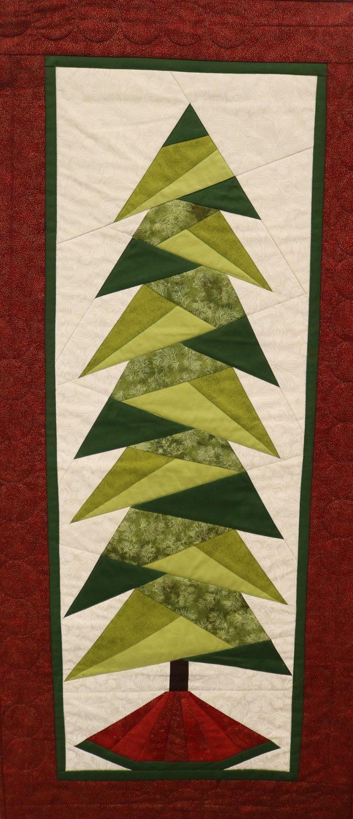 Paper Pieced Christmas Tree Day Session Glastonbury