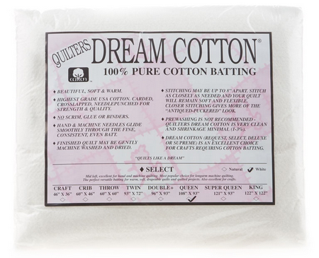 Dream Cotton Batting Select Queen - White (108 x 93)