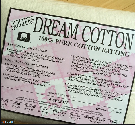 Dream Cotton Batting Select Super Queen - Natural (121 x 93)