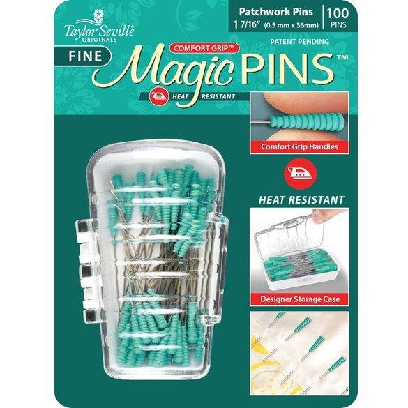 Taylor Seville, Comfort Grip Fine Magic Pins, 100pk
